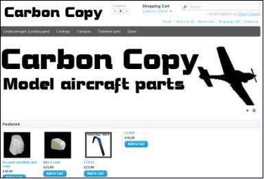 carbon copy model aircraft parts